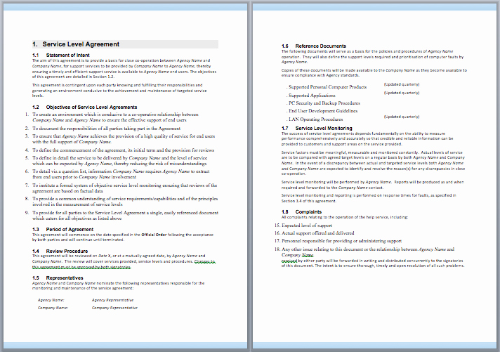 It Support Contract Template New Information Technology Support Services Contract Template
