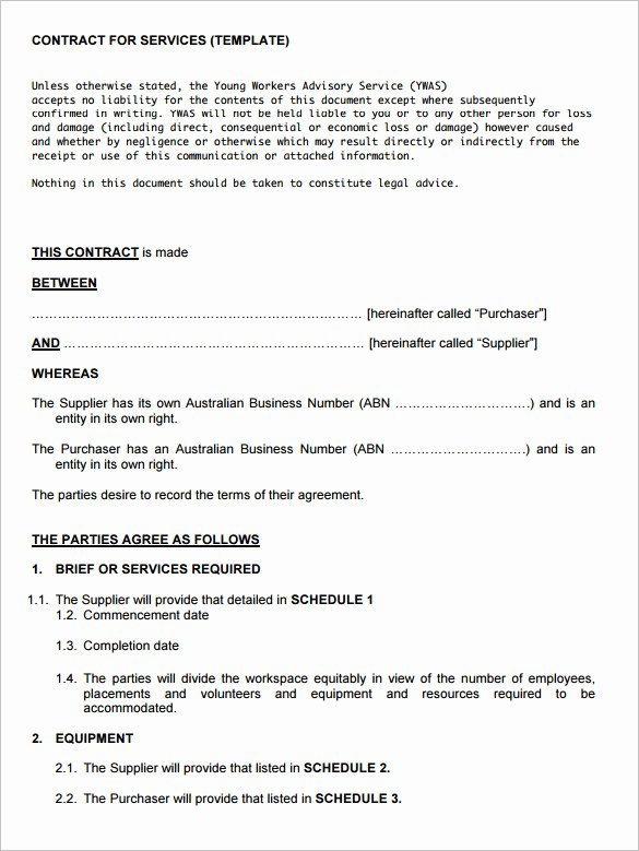 It Support Contract Template Pdf Best Of 12 Service Contract Templates Pdf Doc