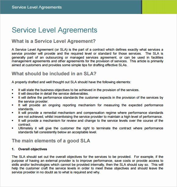 It Support Contract Template Pdf Best Of 16 Service Level Agreement Samples Word Pdf