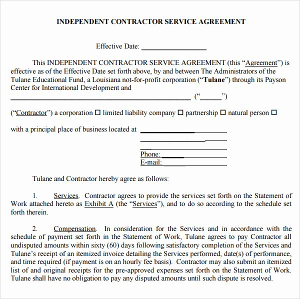 It Support Contract Template Pdf New 7 Service Agreement Templates