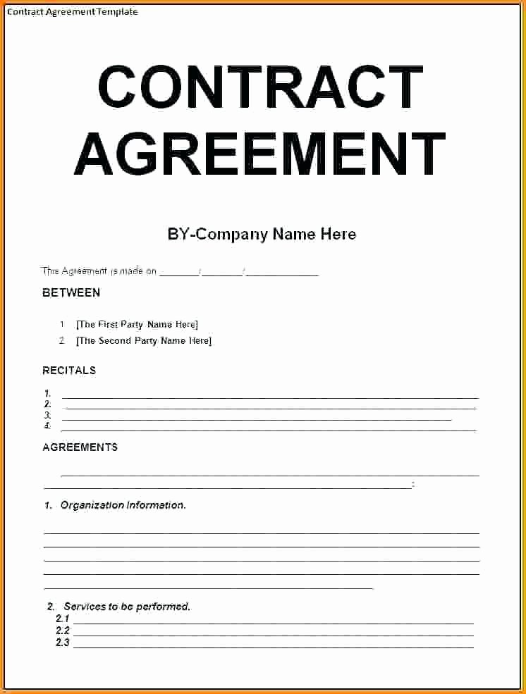 It Support Contract Template Pdf Unique 9 Contract Agreement Letter Examples Pdf