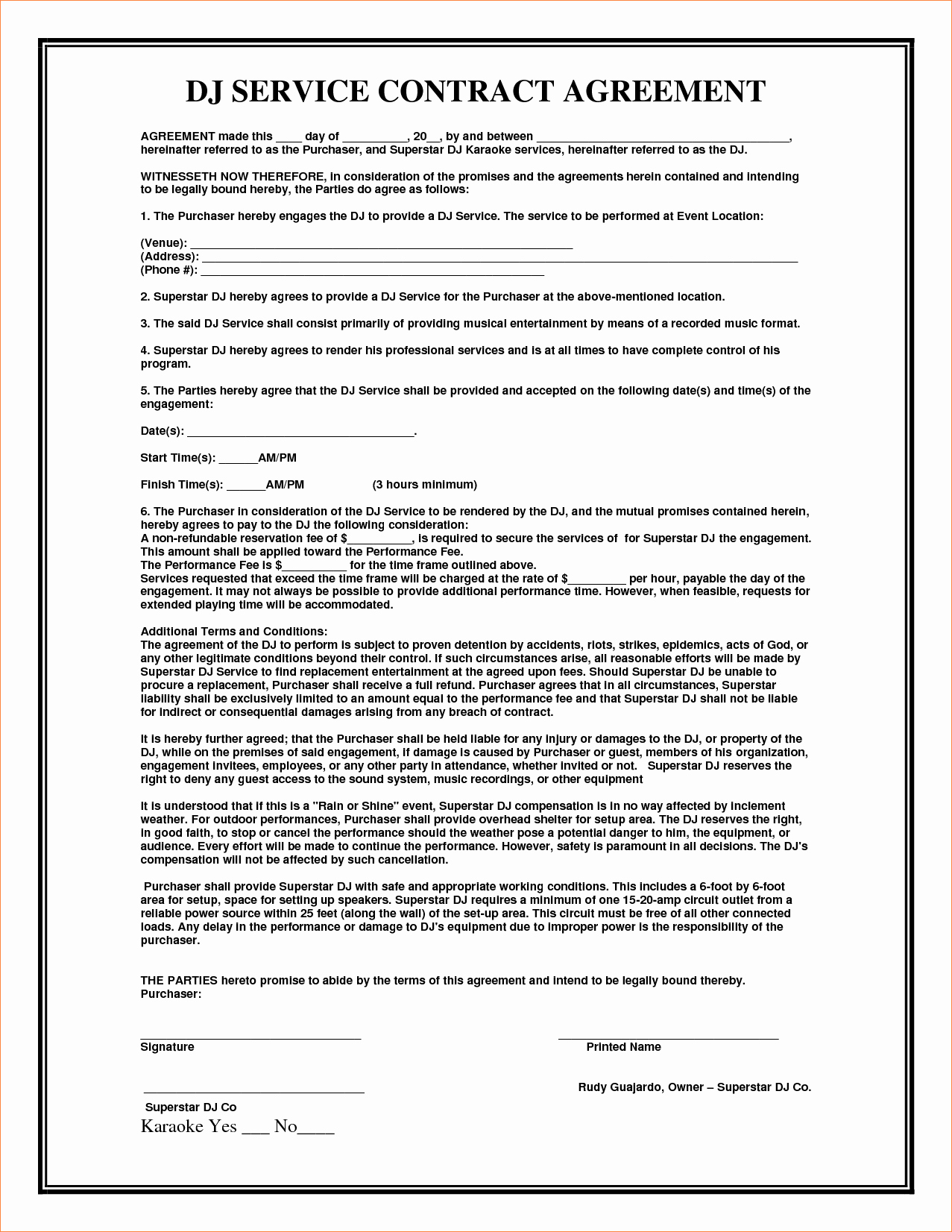 It Support Contract Template Unique 4 Service Agreement Contract Templatereport Template