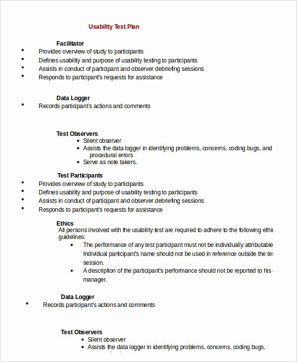 It Testing Plan Template Awesome Test Plan Template 11 Free Word Pdf Documents Download