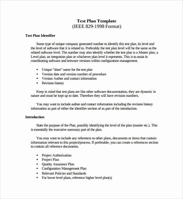 It Testing Plan Template Beautiful 9 Testing Plan Templates