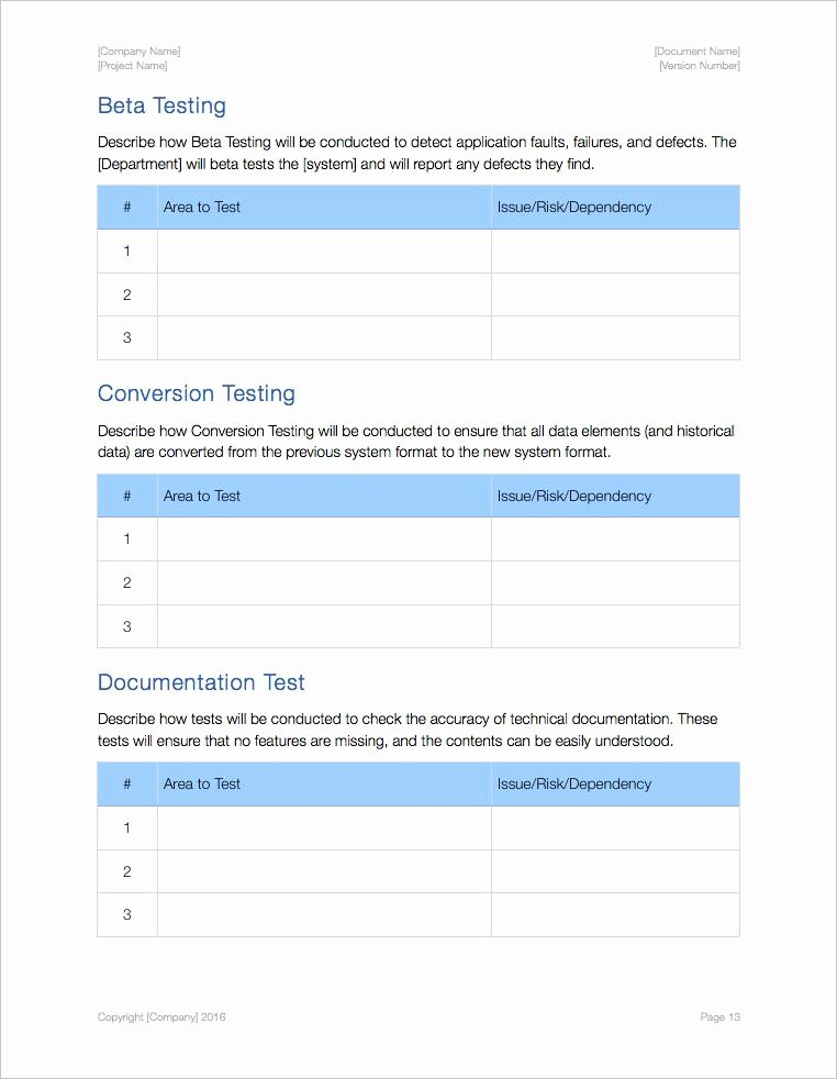 It Testing Plan Template Best Of Test Plan Template Apple Iwork Pages and Numbers