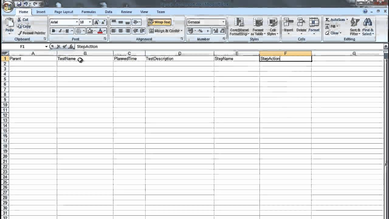 It Testing Plan Template Fresh Creating A Ms Excel Test Plan Document for Importing Into