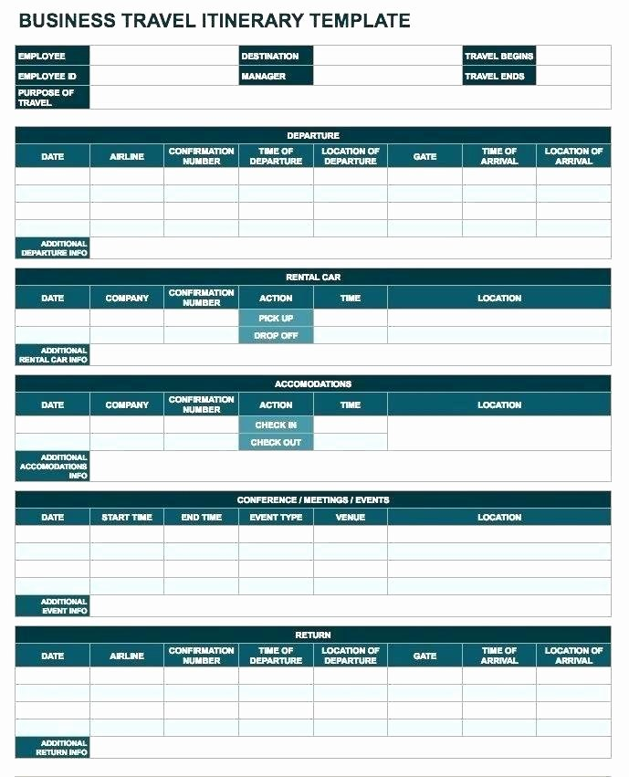 Itinerary Template Google Docs Lovely Business Travel Itinerary Template Word – Flybymedia