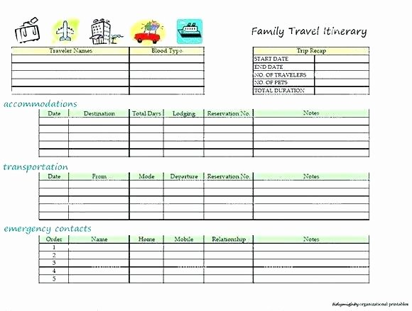 Itinerary Template Google Docs Unique Vacation Itinerary Template Holiday Word Google Docs