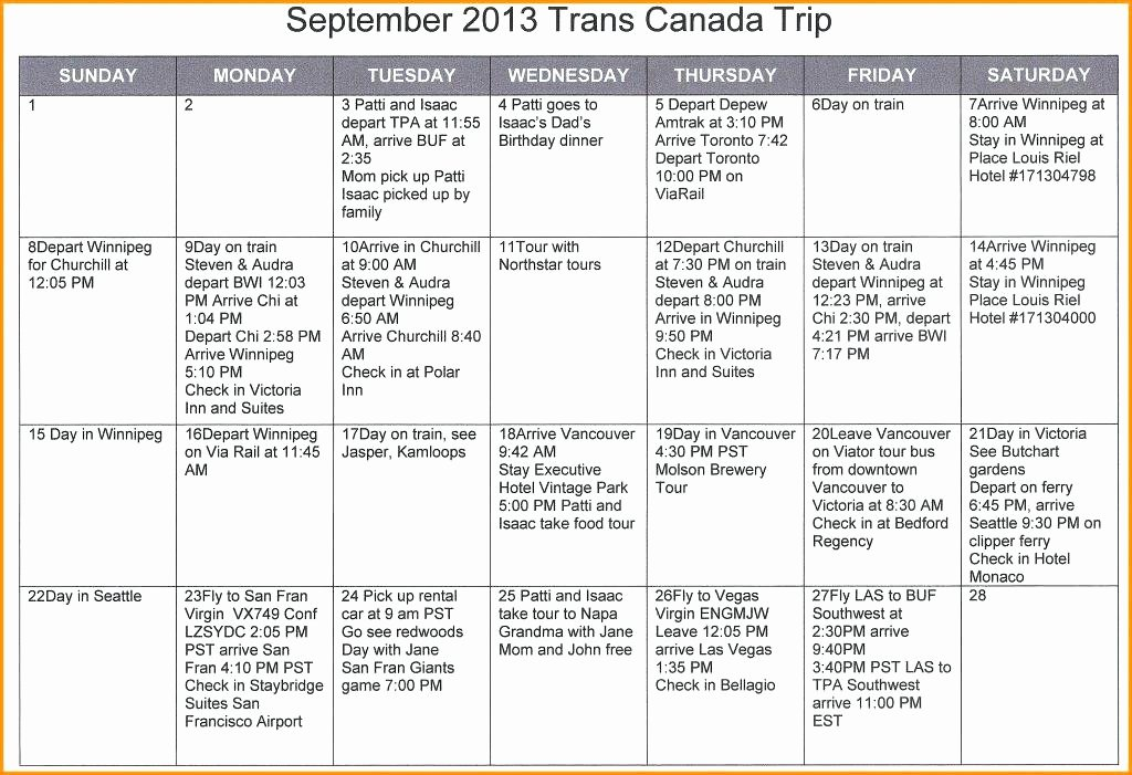 Itinerary Template Google Docs Unique X Travel Itinerary Doc Word Document top Result Template