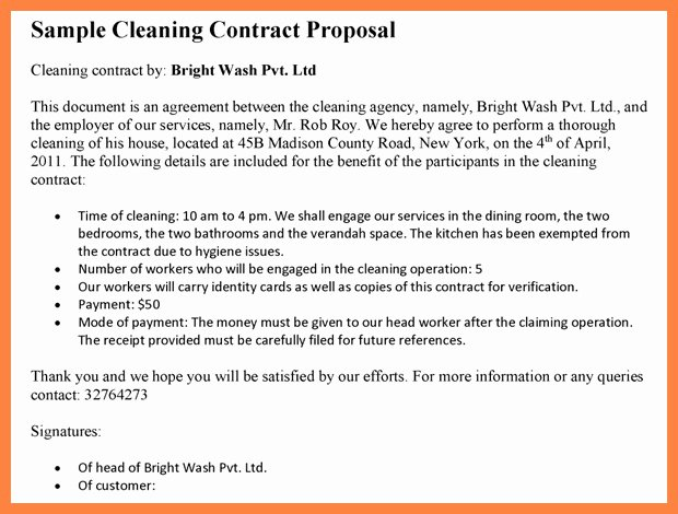 Janitorial Services Contract Template Beautiful Janitorial Service Agreement Perfect Window Cleaning