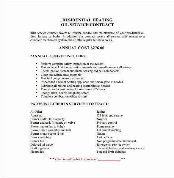 Janitorial Services Contract Template Best Of Service Contract Template 13 Download Free Documents In