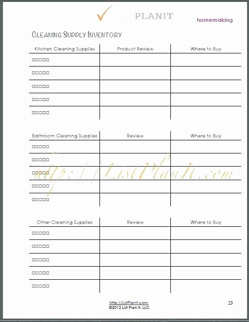 Janitorial Supply List Template Awesome 95 Janitorial Supply List Template Inventory Tracking