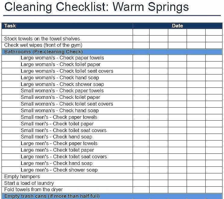 Janitorial Supply List Template Awesome Cleaning Supply Checklist Template – soloapk