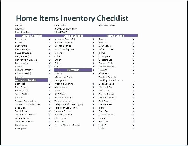 Janitorial Supply List Template Fresh Inventory Supply List – Idmanado