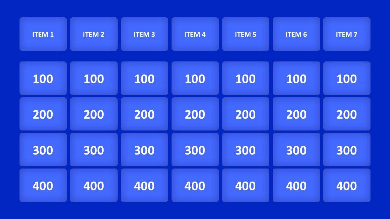Jeopardy Powerpoint Template 4 Categories Awesome Template Jeopardy Powerpoint Template
