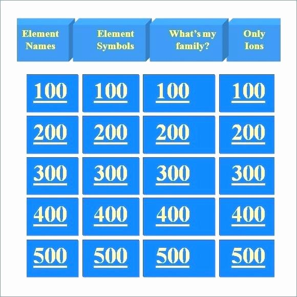 Jeopardy Powerpoint Template 4 Categories Beautiful Free Jeopardy Templates Make Your Own Powerpoint Template