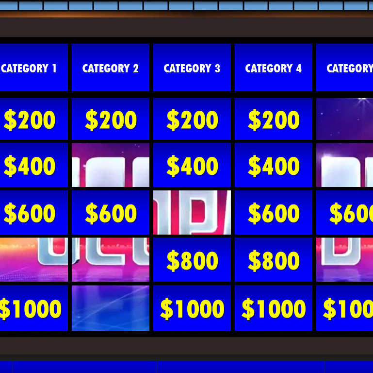Jeopardy Powerpoint Template 4 Categories Best Of Jeopardy Powerpoint Template 3 Categories Bountrfo