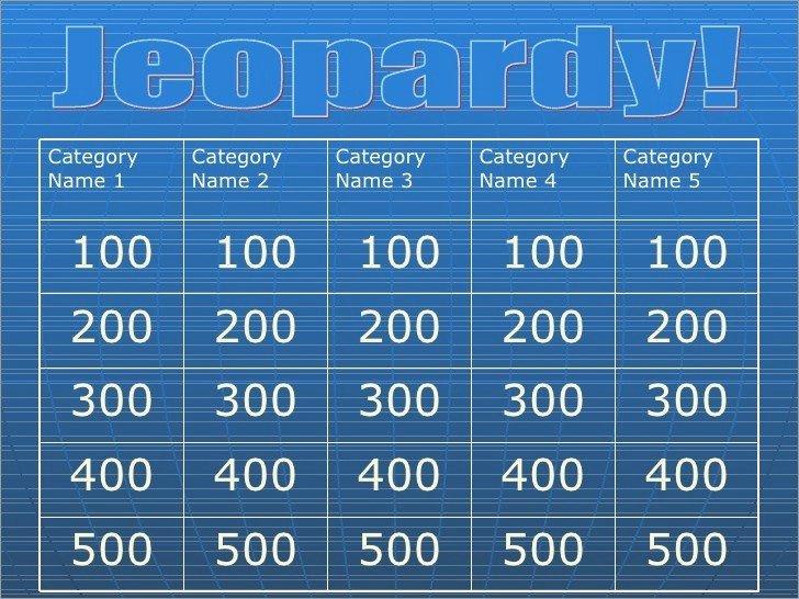 Jeopardy Powerpoint Template 4 Categories Best Of Jeopardy Powerpoint Template 5 Categories