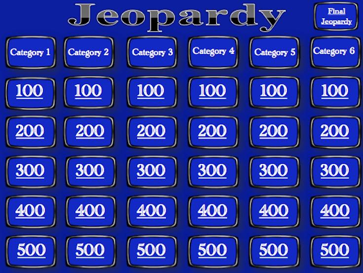 Jeopardy Powerpoint Template 4 Categories Elegant Blank Jeopardy Powerpoint Template Rebocfo