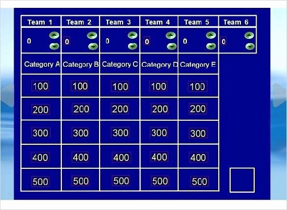 Jeopardy Powerpoint Template 4 Categories Lovely Jeopardy Powerpoint Template 6 Categories with Scoring