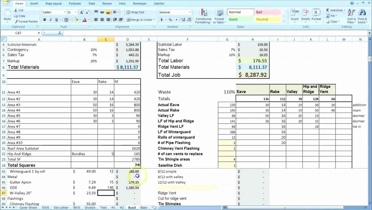 Job Estimate Template Excel Lovely Excel Cost Estimate Template