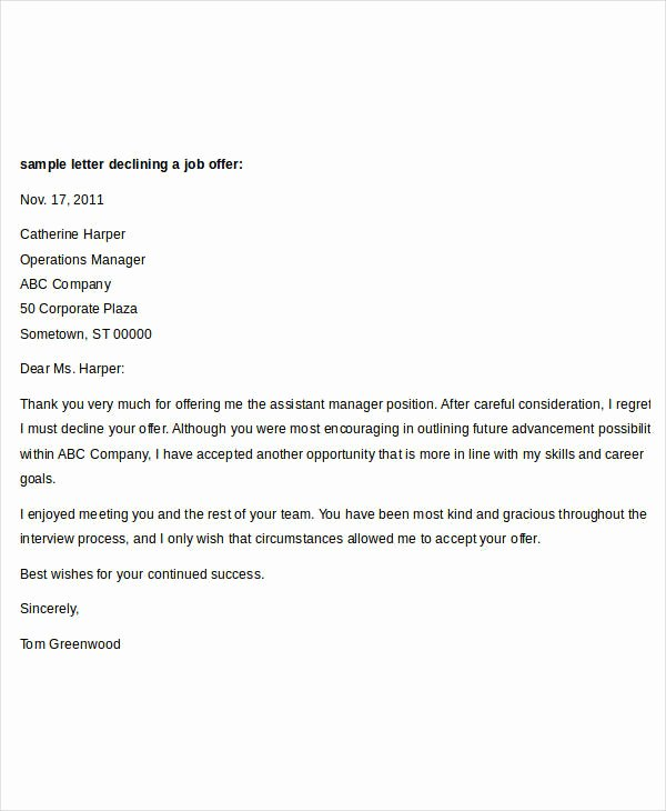 Job Offer Letter Template Doc Inspirational Fer Letter Templates In Doc 50 Free Word Pdf