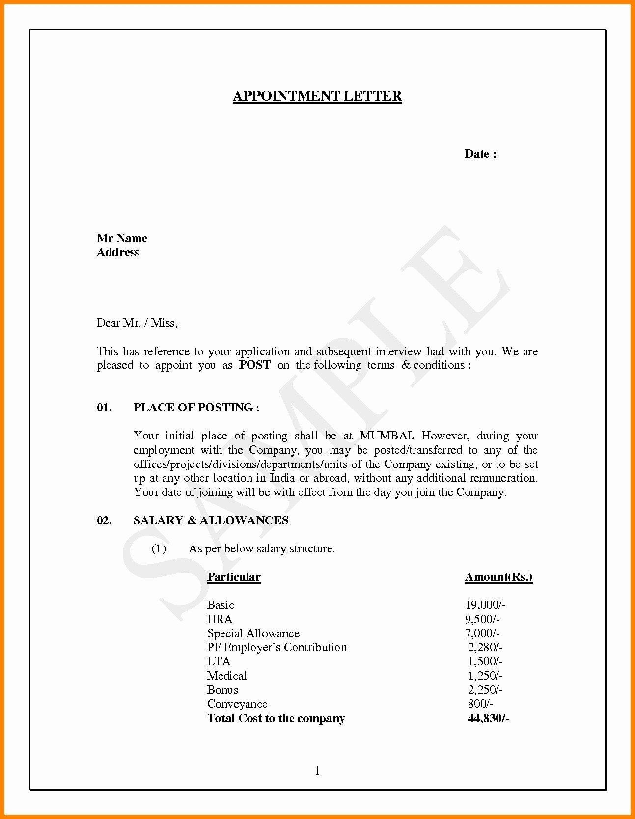 Job Offer Letter Template Doc Inspirational Job Fer Letter Word Doc Best 16 Elegant Employment