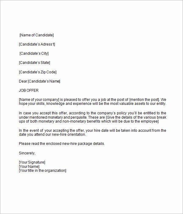 Job Offer Letter Template Doc Lovely 16 Sample Job Fer Letters – Pdf Word Apple Pages