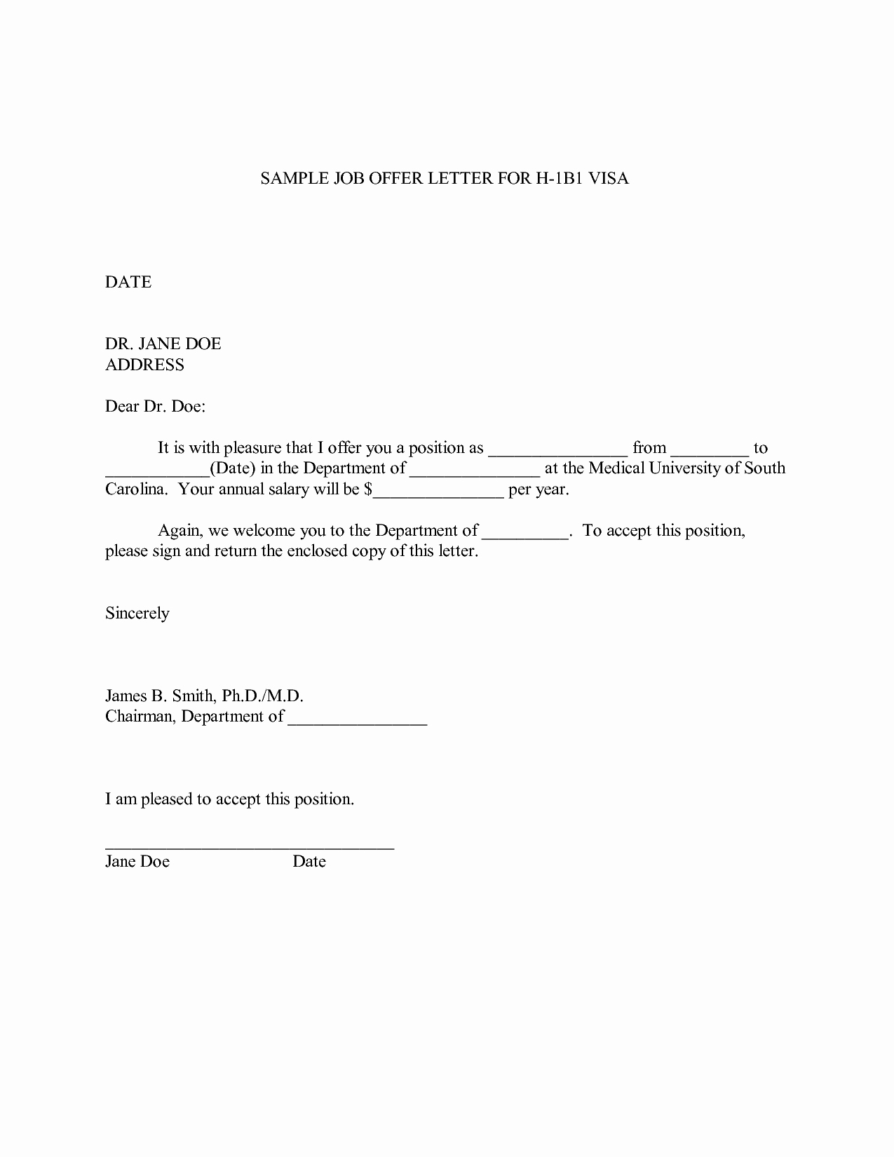 Job Offer Letter Template Doc Unique Job Fer Letter Sample