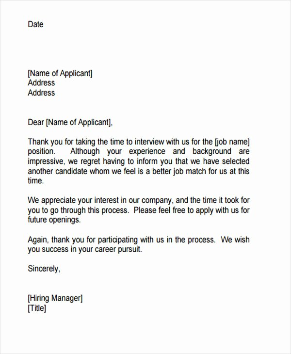 Job Rejection Email Template Awesome Awesome Rejection Email for Job