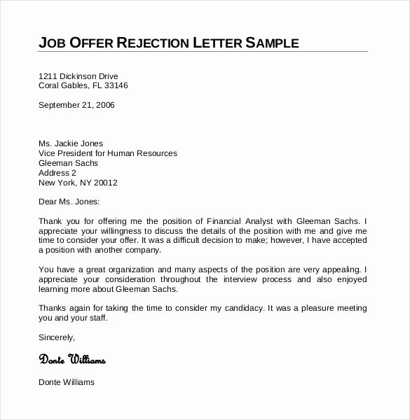 Job Rejection Email Template Beautiful 27 Rejection Letters Template Hr Templates