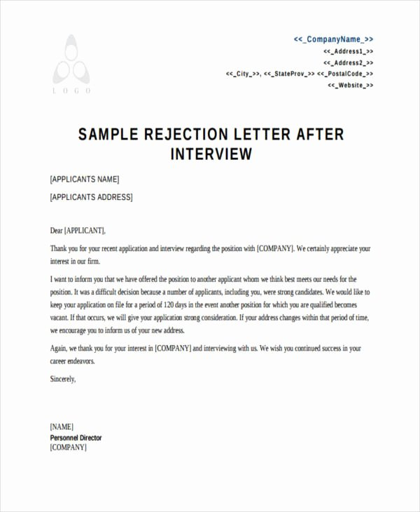 Job Rejection Email Template Best Of 17 Job Refusal Letter Examples Word Apple Pages