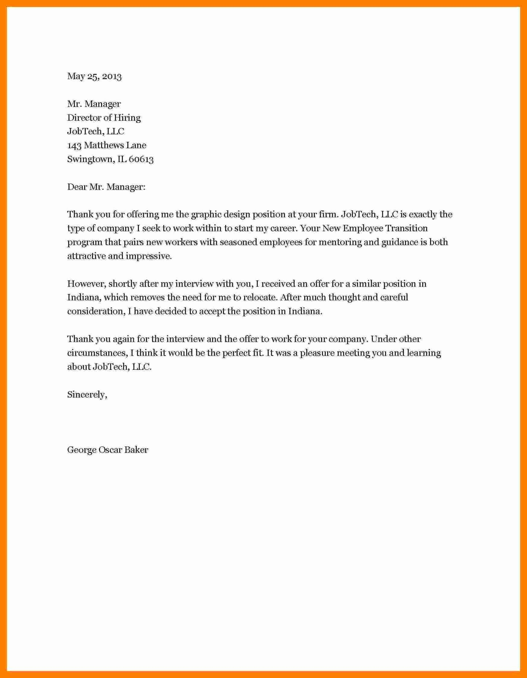 Job Rejection Email Template Luxury 7 How to Write A Job Rejection Letter