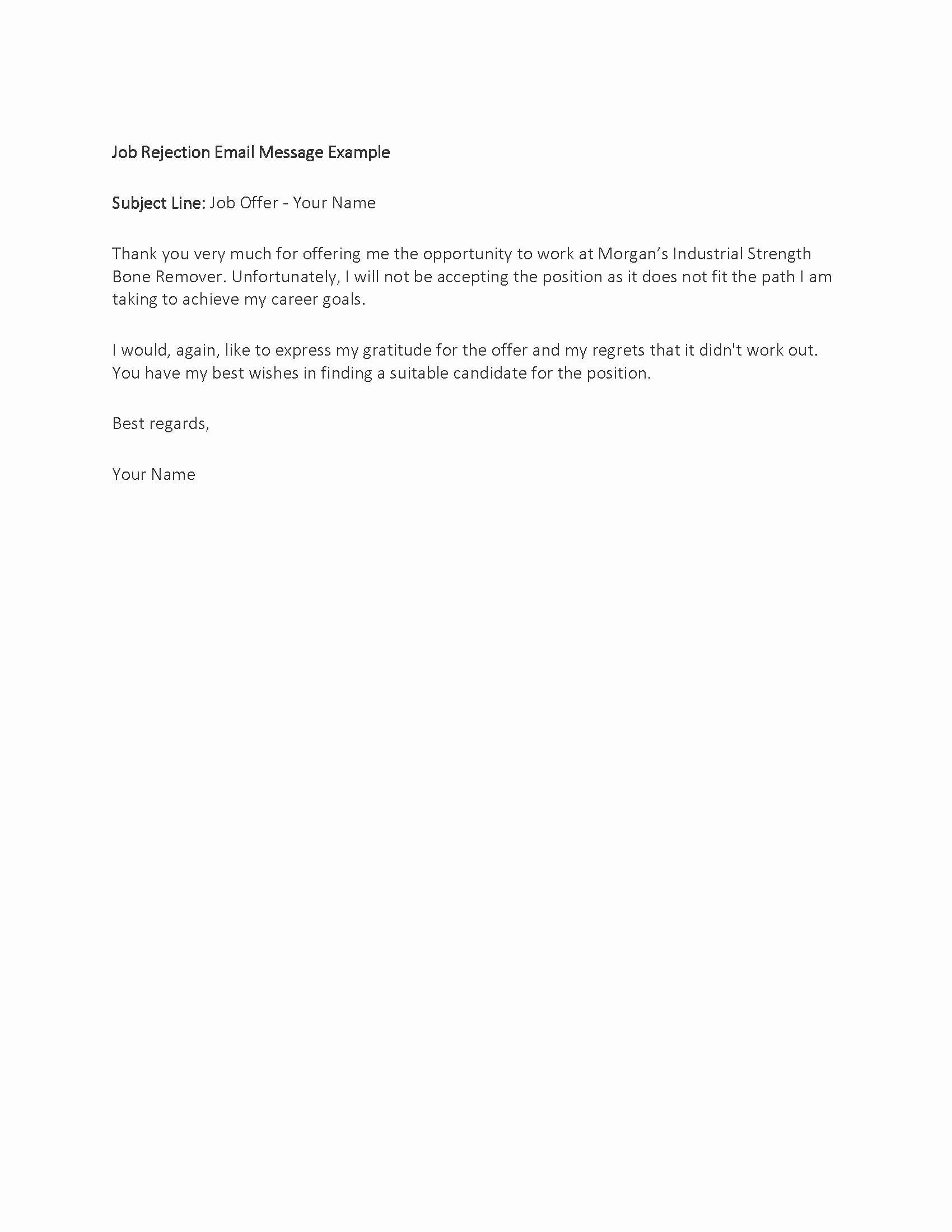 Job Rejection Email Template Luxury Responde to A Resume Rejection Euthanasiaessays Web Fc2