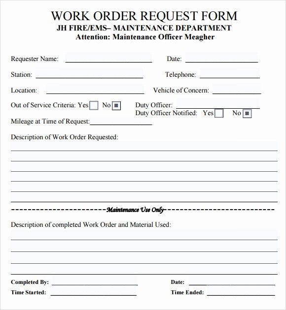 Job Work order Template Unique 14 Work order Samples – Pdf Word Excel Apple Pages