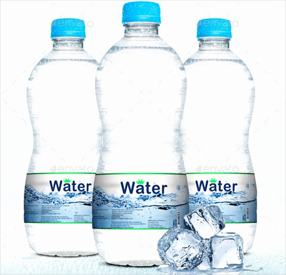 Label for Water Bottle Template Fresh 25 Water Bottle Label Templates Free Sample Example