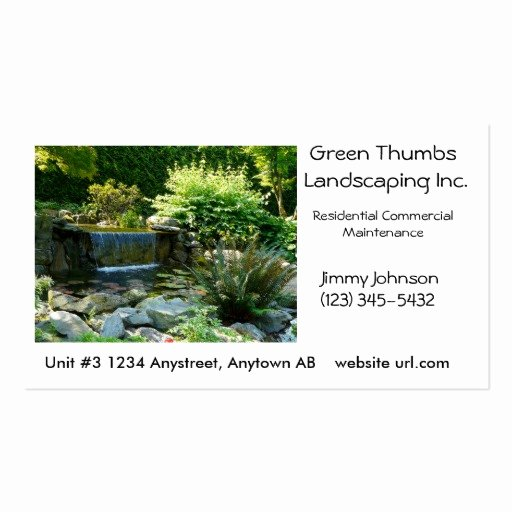 Landscape Business Card Template Awesome Collections Of Landscaping Business Cards