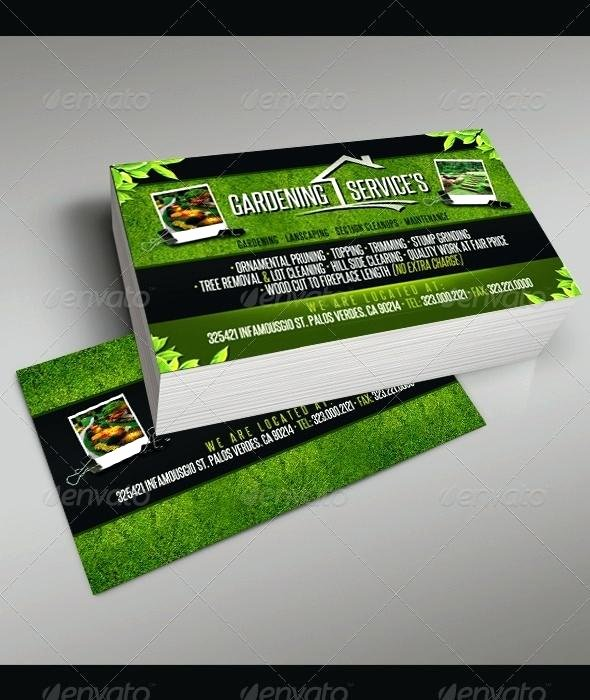 Landscape Business Card Template Awesome Gardening Business Cards Templates Inspirational Template
