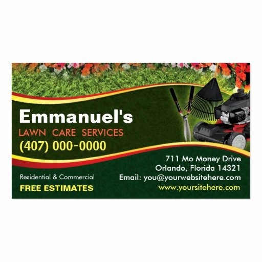 Landscape Business Card Template Awesome Landscaping Lawn Care Mower Business Card Template