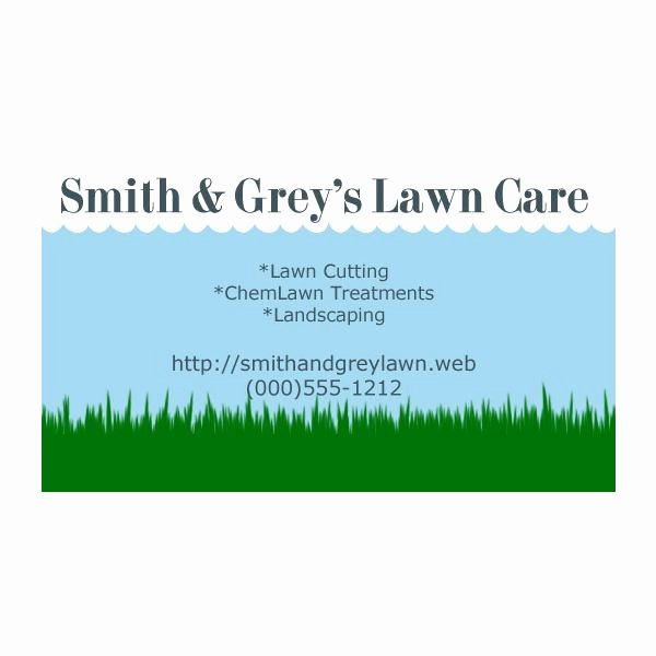 Landscape Business Card Template Awesome Lawn Care Business Cards Five Customizable Templates