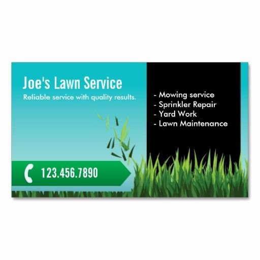 Landscape Business Card Template Awesome Professional Lawn Care Mowing Landscaping Business Card