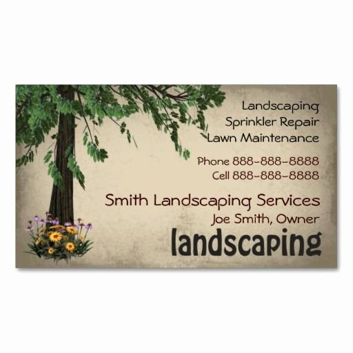 Landscape Business Card Template Beautiful 10 Images About Lawn Care Business Cards On Pinterest