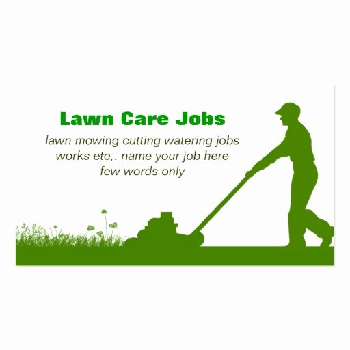 Landscape Business Card Template Beautiful Lawn Care Grass Cutting Business Card