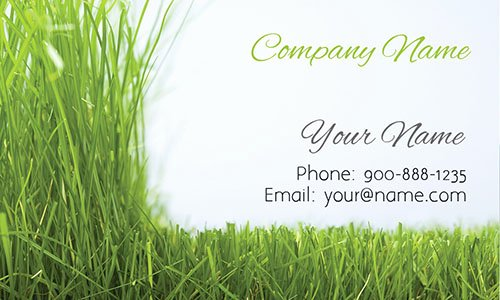Landscape Business Card Template Best Of Grass Gardener Business Card Design