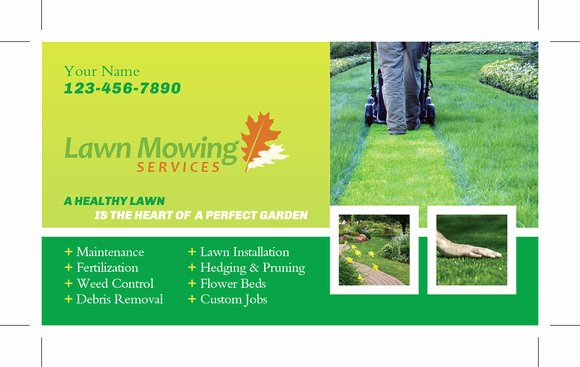 Landscape Business Card Template Best Of Lawn Care Business Cards Templates