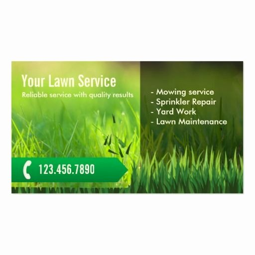Landscape Business Card Template Best Of Professional Lawn Care & Landscaping Business Card