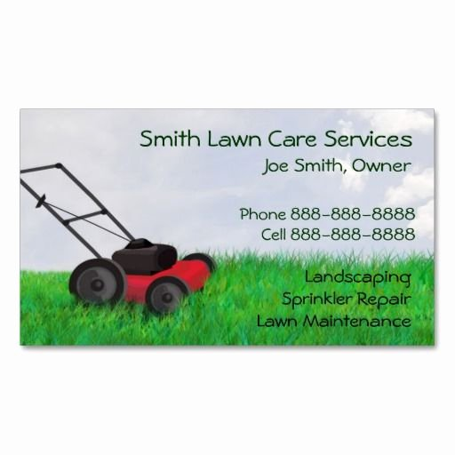 Landscape Business Card Template Elegant 10 Images About Lawn Care Business Cards On Pinterest