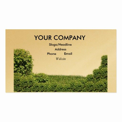 Landscape Business Card Template Elegant Landscaping Double Sided Standard Business Cards Pack