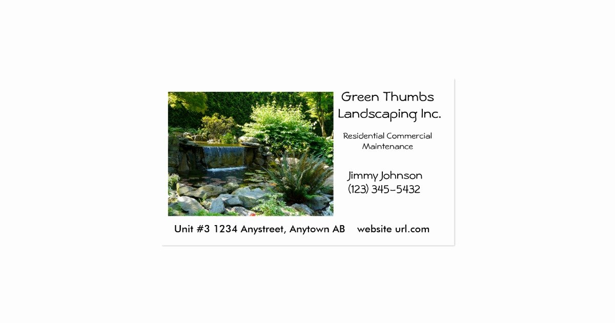 Landscape Business Card Template Elegant Landscaping or Gardening Business Card Template