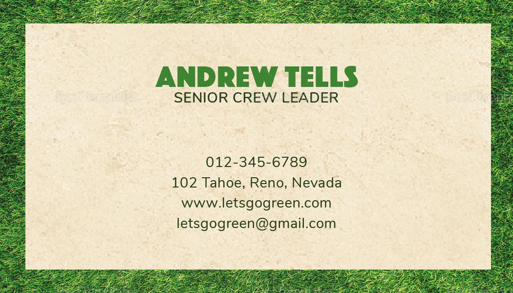 Landscape Business Card Template Fresh Landscaping Business Card Template In Psd Word Publisher